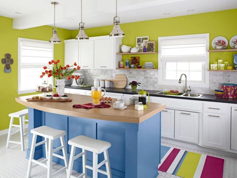 مطبخ متعدد الألوان