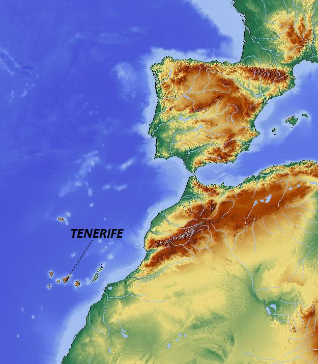 Location Map of Tenerife