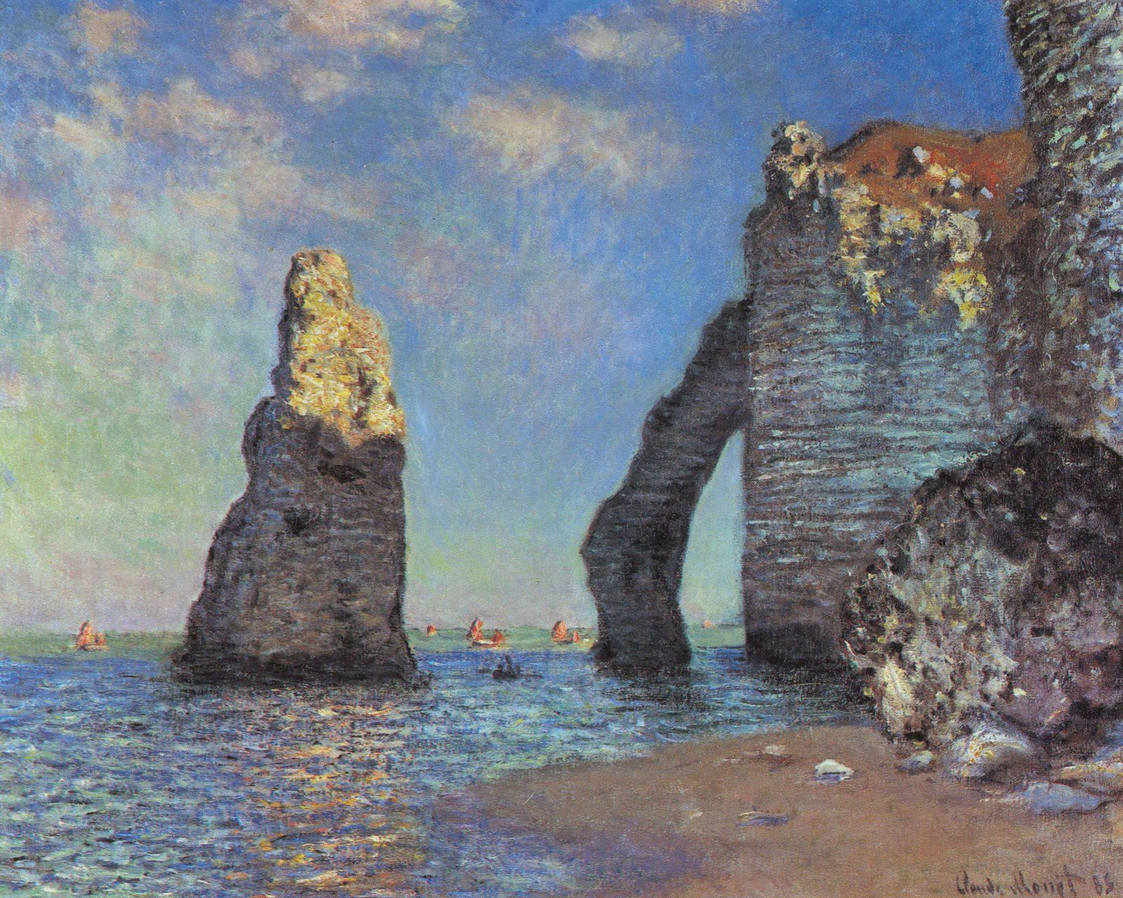 Photo Claude Monet The Cliffs at Etretat