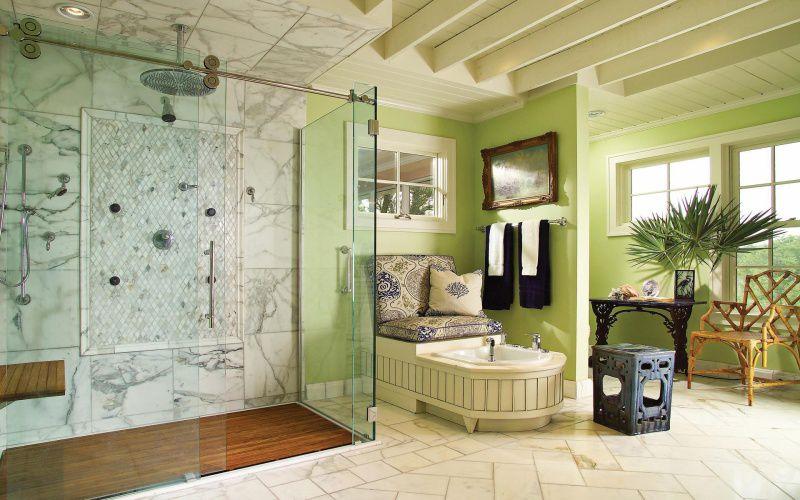 Зеленая ванная комната  № 2278744 бесплатно