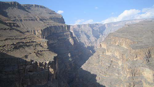 Wadi Nakhr cuts dramatically
