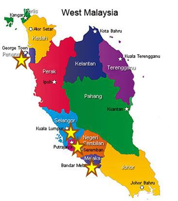 west malaysia map