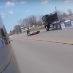 شاهد فيديو كلب كاد أن يتسبب في حادث مروع