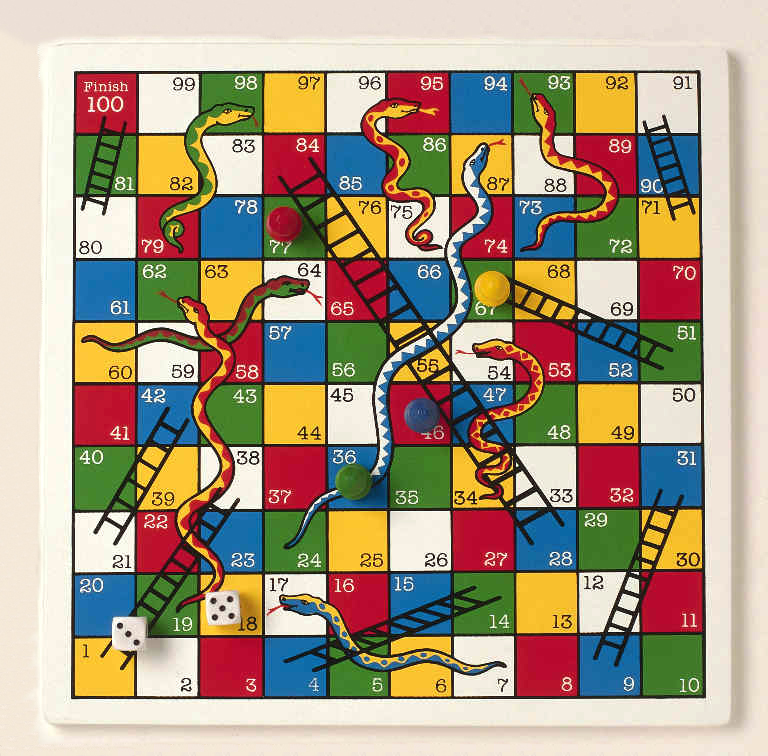 for Chutes and ladders board game template