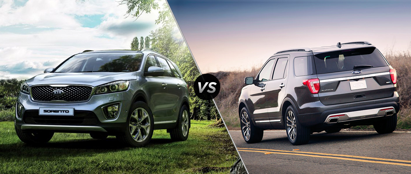 2016 kia sorento vs 2016 ford explorer. Black Bedroom Furniture Sets. Home Design Ideas