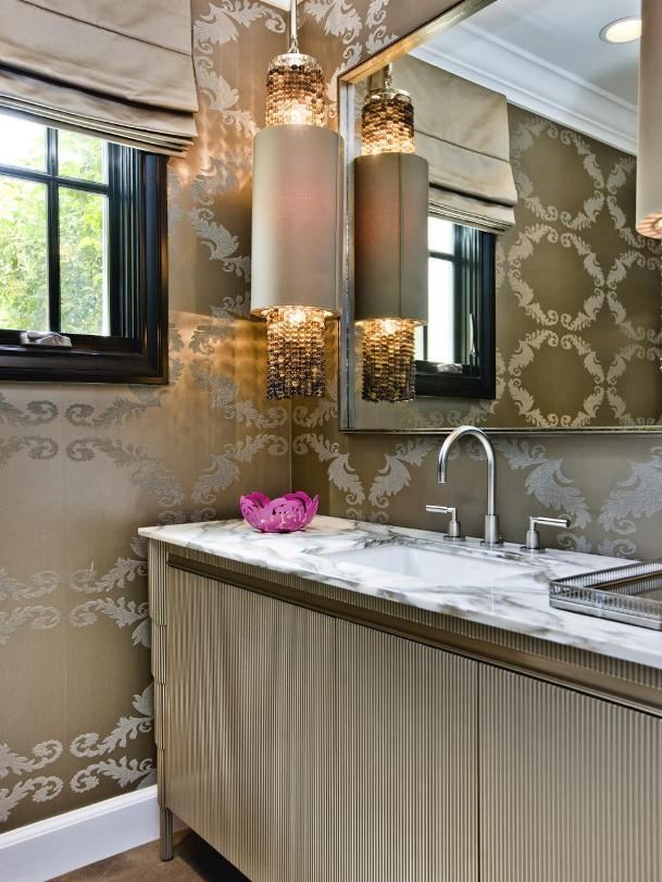 Golden Luxury أناقة الألوان المحايدة في ديكور الحمامات