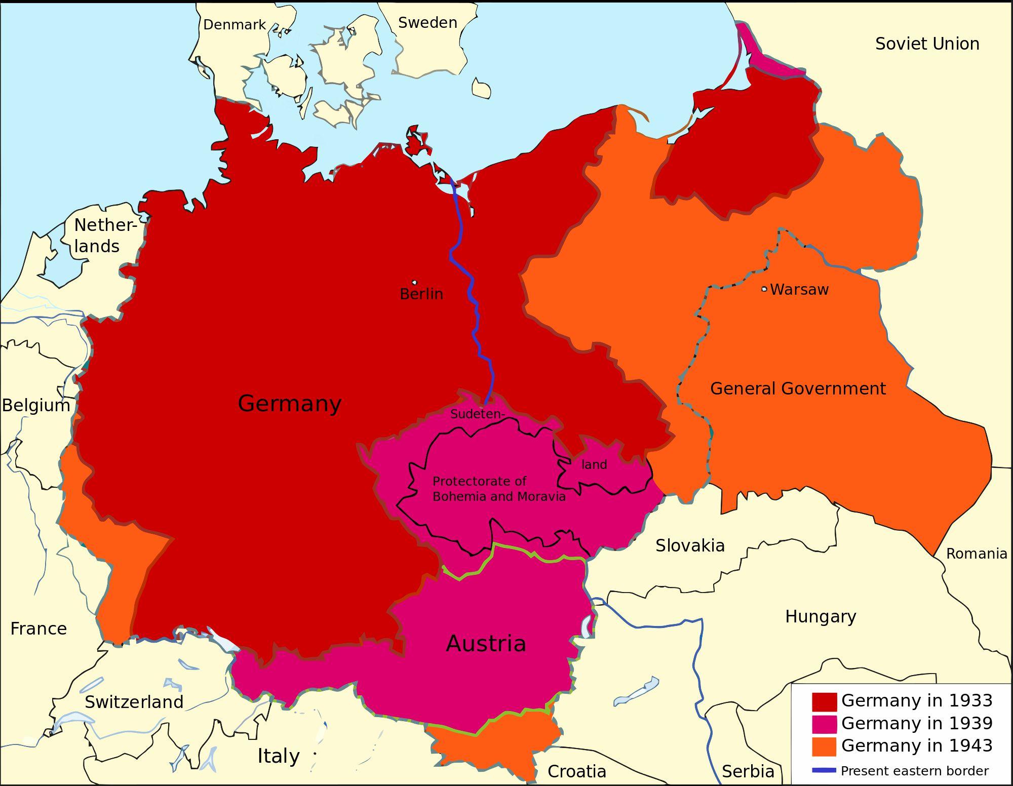 Nazi Germany map