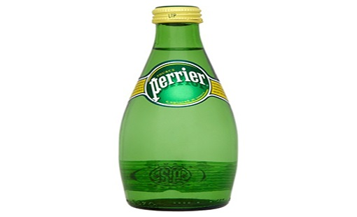 mineral water and perrier