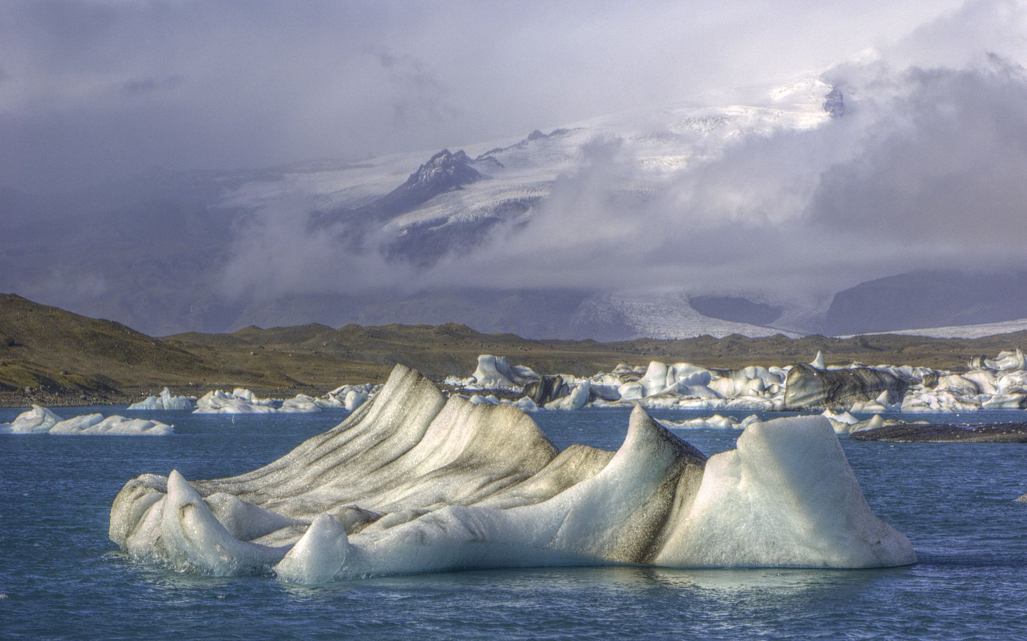 The Jökulsárlón lake