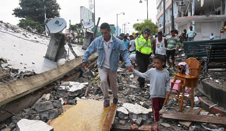 Ecuador earthquake pictures