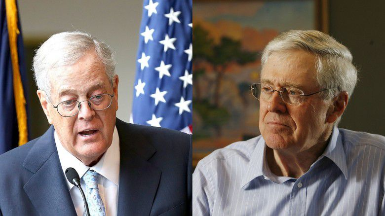 9. David Koch ($42.9 billion) and Charles Koch ($42.9 billion)