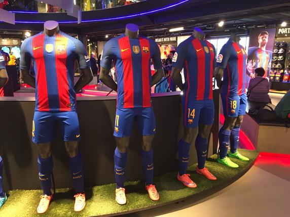 Barcelona's new uniforms in 2017