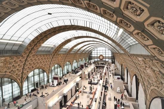 Interior of Musée d'Orsay, Paris