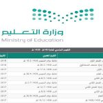 التقويم الدراسي 1437 و 1438 والاجازات الرسمية في السعودية - 353520