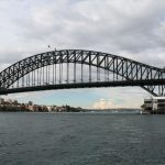Sydney Harbour Bridge Theis  famous bridge which crosses the bay of Sydney is a symbol of economic progress of the Australian nation. - 358846