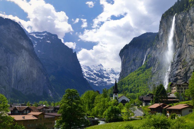 The total area of Lauterbrunnen