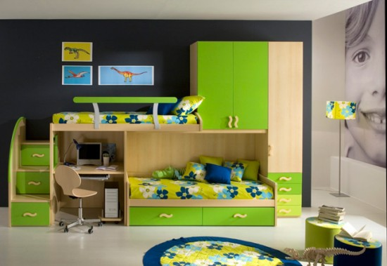 7 Inspiring Kid Room Color Options For Your Little Ones: غرف نوم اولاد 2017 بالصور