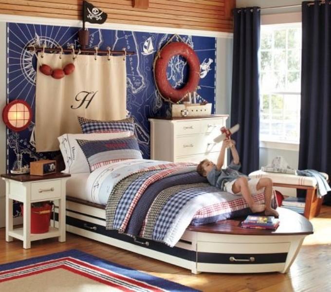غرفة نوم للأولاد على شكل مركب 2017