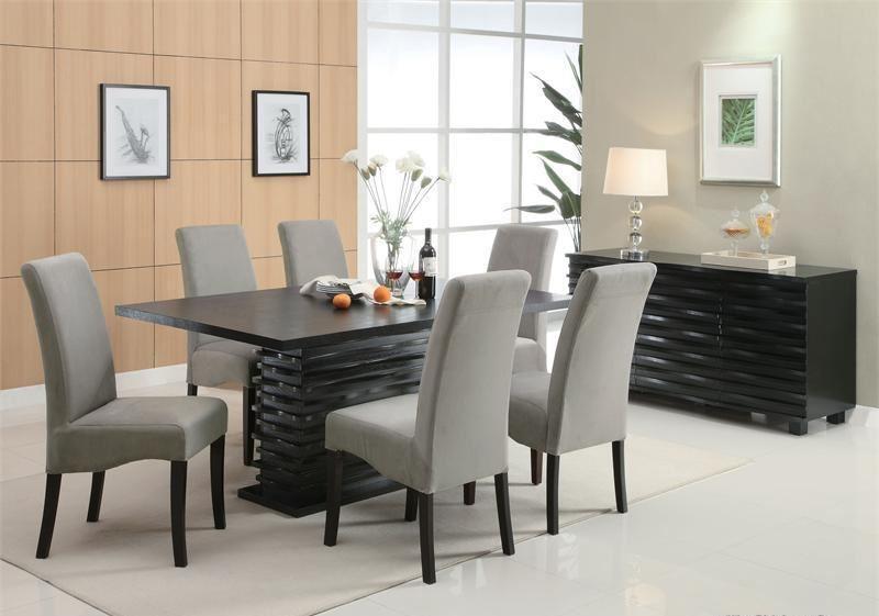 Grey and Black Diningroom