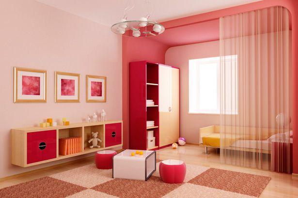 غرفة نوم الأطفال مبهجة الألوان