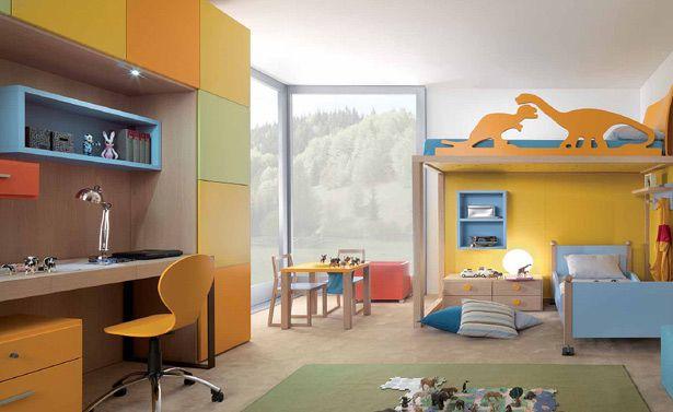 غرفة نوم الأطفال واسعة