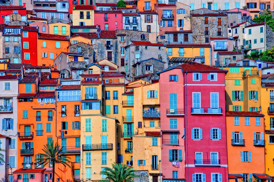 Provence Village of Menton, Provence-Alpes Cote d'Azur, France
