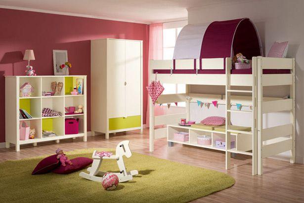 غرفة نوم الأطفال بناتي بدورين