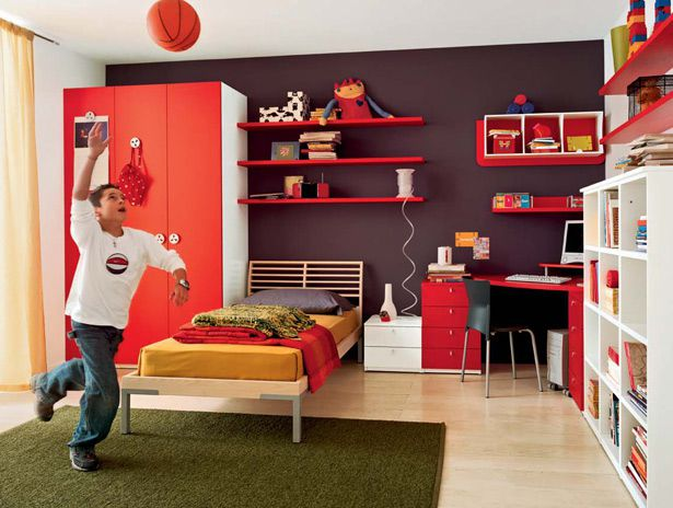 غرفة نوم الأطفال منظمة