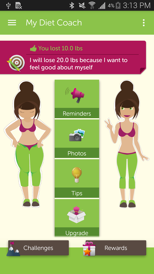 تطبيق My Diet Coach