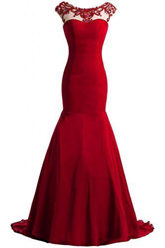 احدث فساتين سوارية 2018 قمة فستان-احمر.