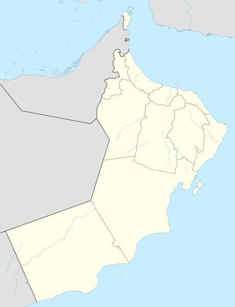 موقع عمان على الخريطة