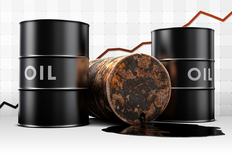 Leaking Oil Drum With Price Graph