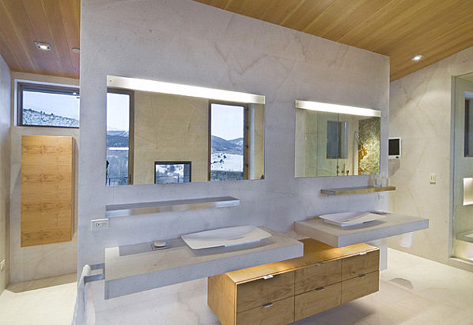 اضاءة الحمام في البيت العصري