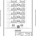 تصميم عمارة اربعة شقق بمدخلين بمساحة 1000 متر مربع