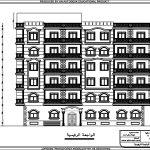 مخطط لعمارة سكنية بمساحة 500 متر مربع ( 3 شقق)