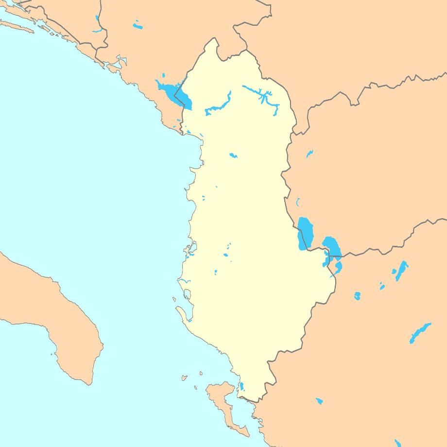 خريطة ألبانيا