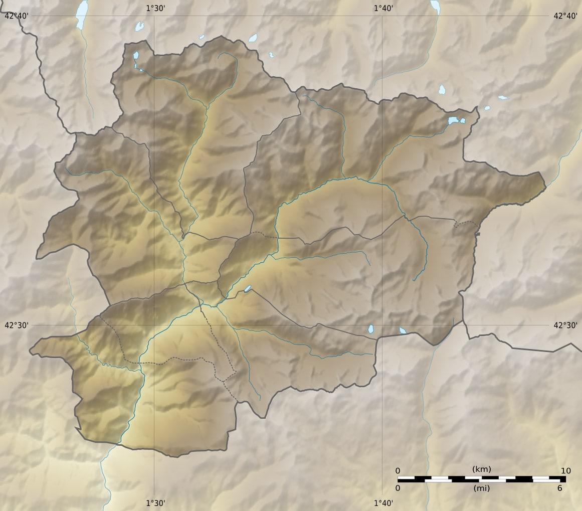 خريطة أندورا