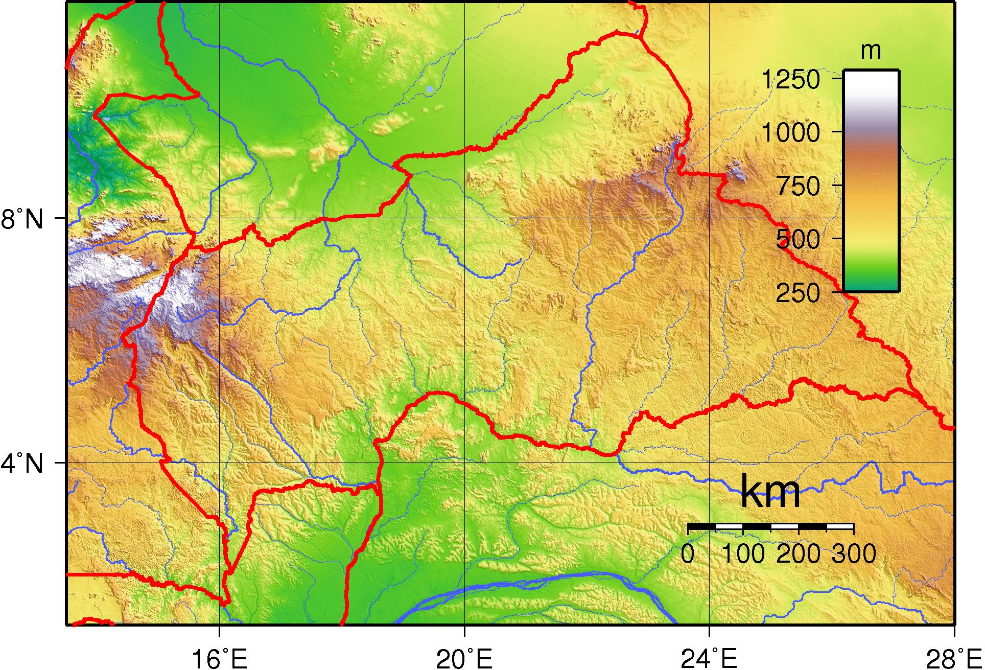 خريطة إفريقيا الوسطى