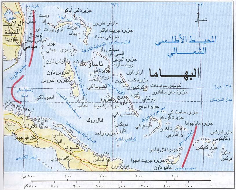 خريطة البهاما