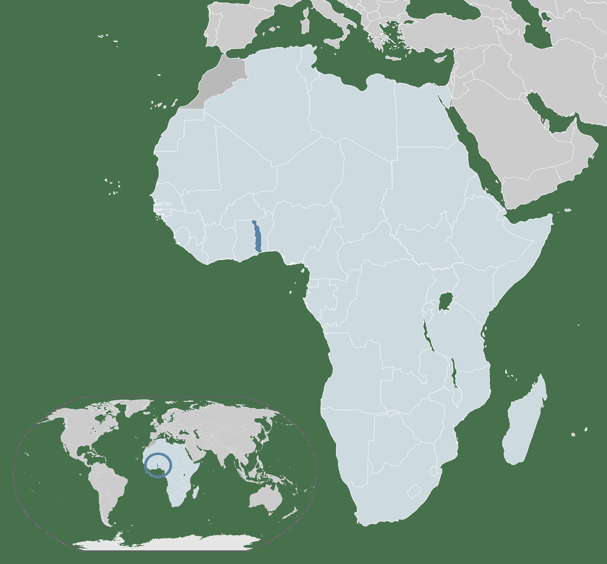 خريطة التوغو