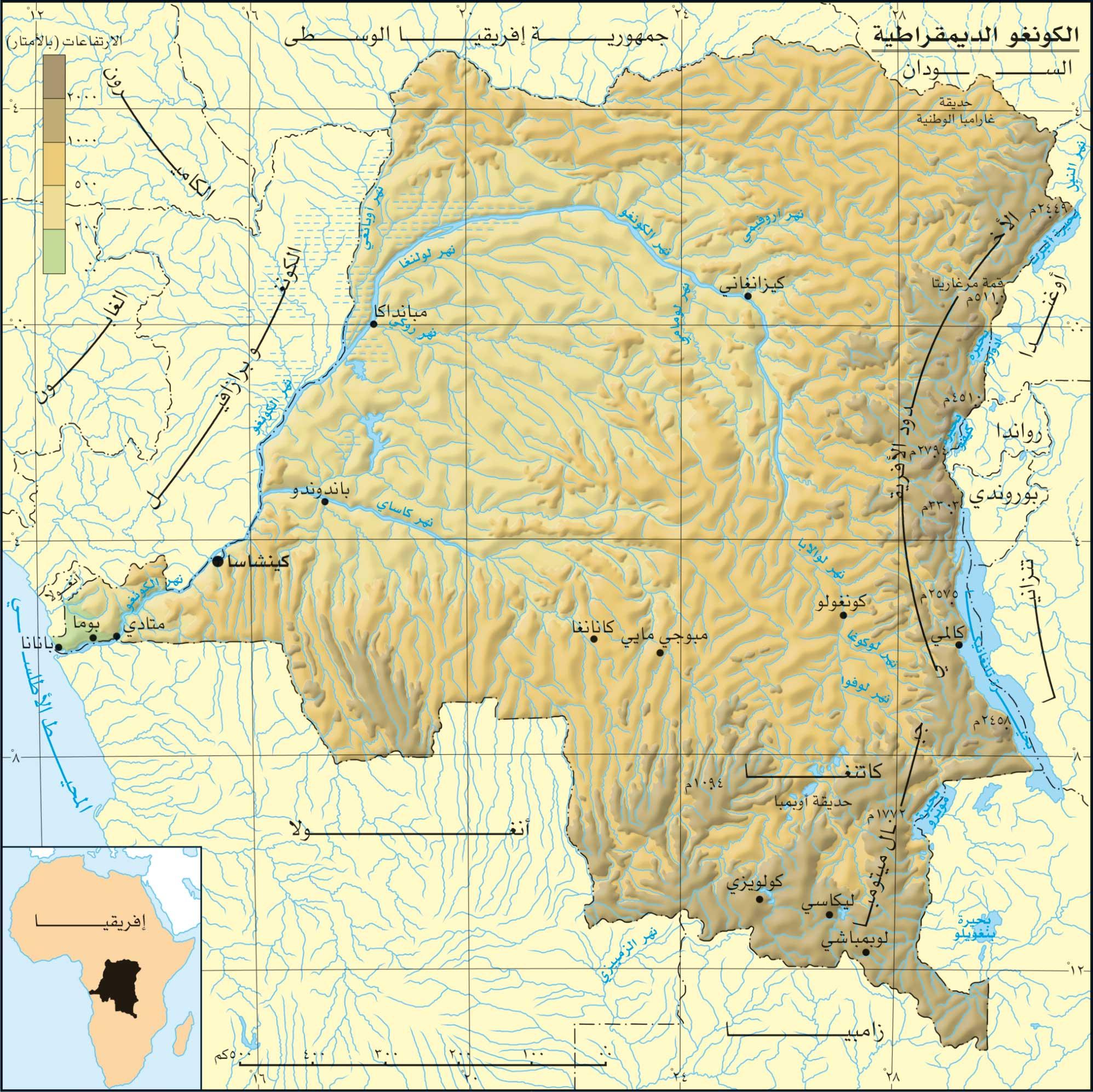 خريطة الكونغو