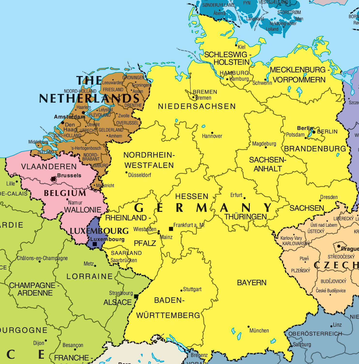 خريطة المانيا بالعربية Kharita Blog