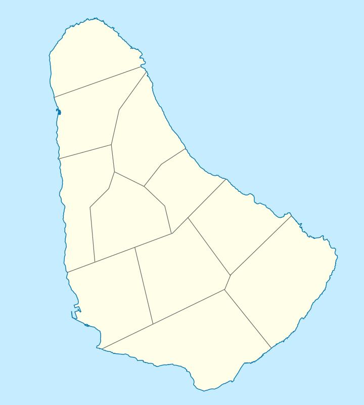 خريطة باربادوس