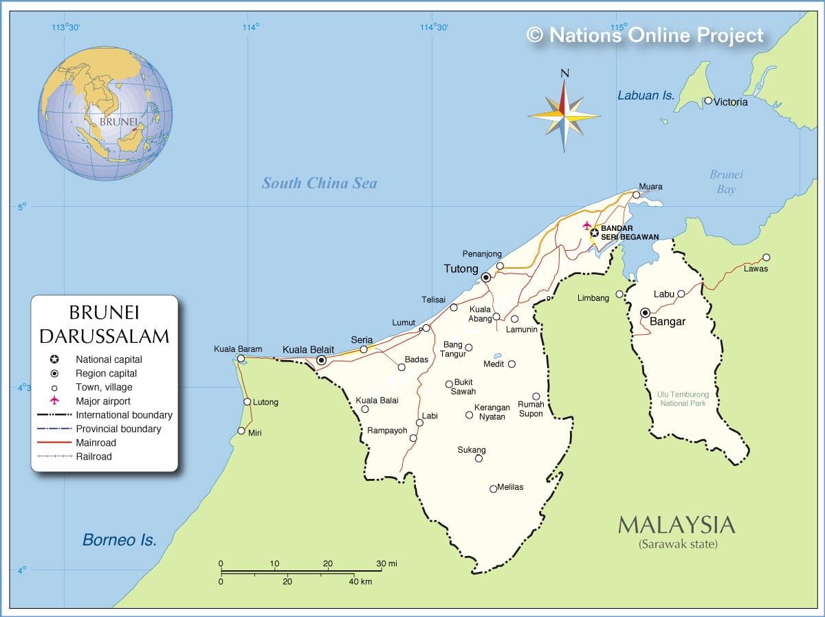 خريطة بروناي