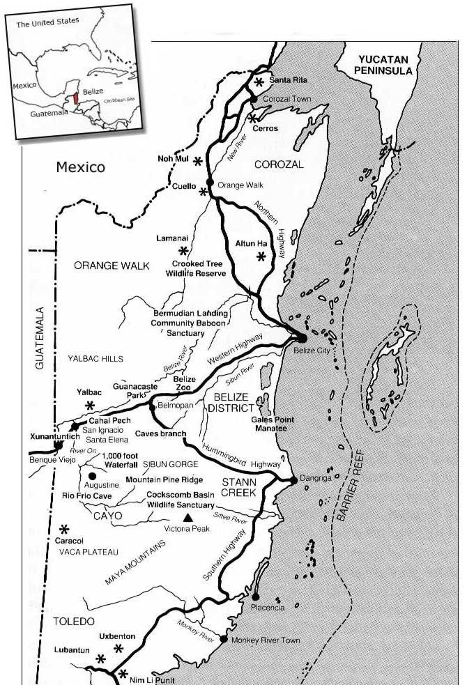 خريطة بليز