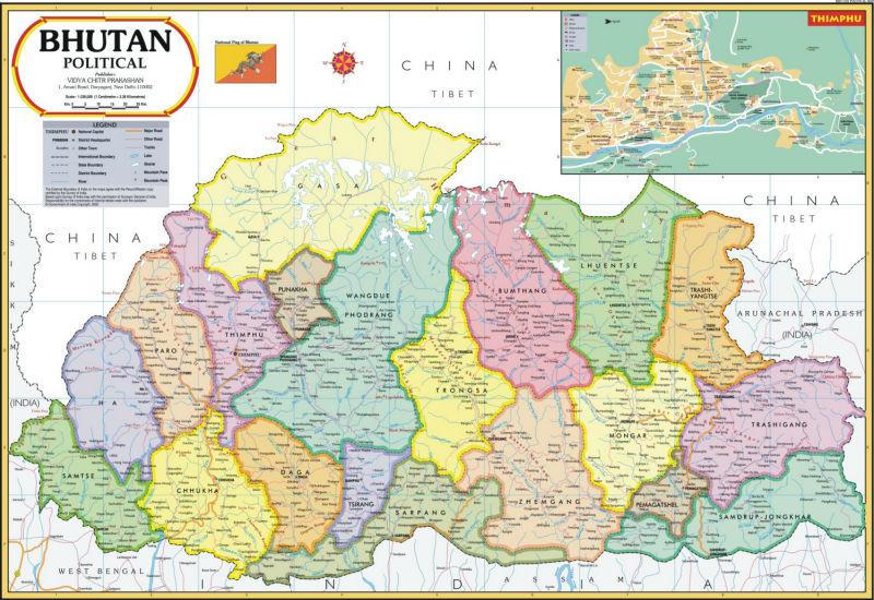 خريطة بوتان