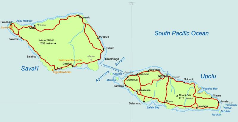 خريطة تونغا