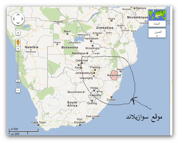 خريطة سوازيلاند