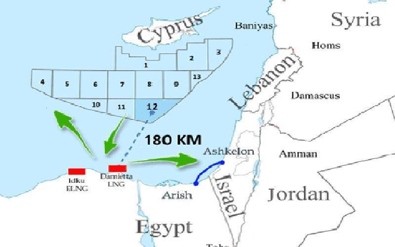 خريطة قبرص