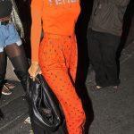 ـ افضل إطلالات الفنانة العالمية ريهانا (Rihanna) ريهانا-ترتدي-اللون-ا